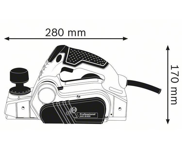 Рубанок BOSCH GHO 26-82 D