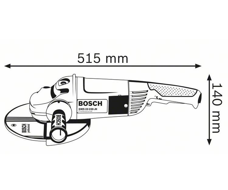 Болгарка BOSCH GWS 22-230 JH